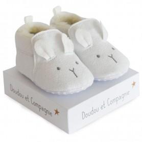 Chaussons bébé blanc 0/6 mois